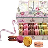 Paris Souvenir - LeilaLove 18 Gourmet Macarons -dozen Flavor Assortments - (boxes may vary in color and style)