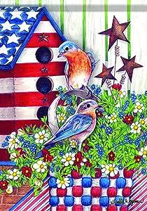 Carson Home Accents Garden Flag, Patriotic Bluebird