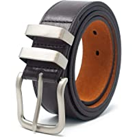 Ossi Mens Leather Lined Belt with Double Loop