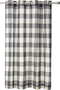 "LORRAINE HOME FASHIONS, Gray, Courtyard Grommet Window Curtain Panel, 53"" x 63"""