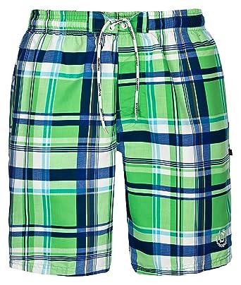 ca46ca002c Bugatti®, checkered men's swimming shorts: Amazon.co.uk: Clothing