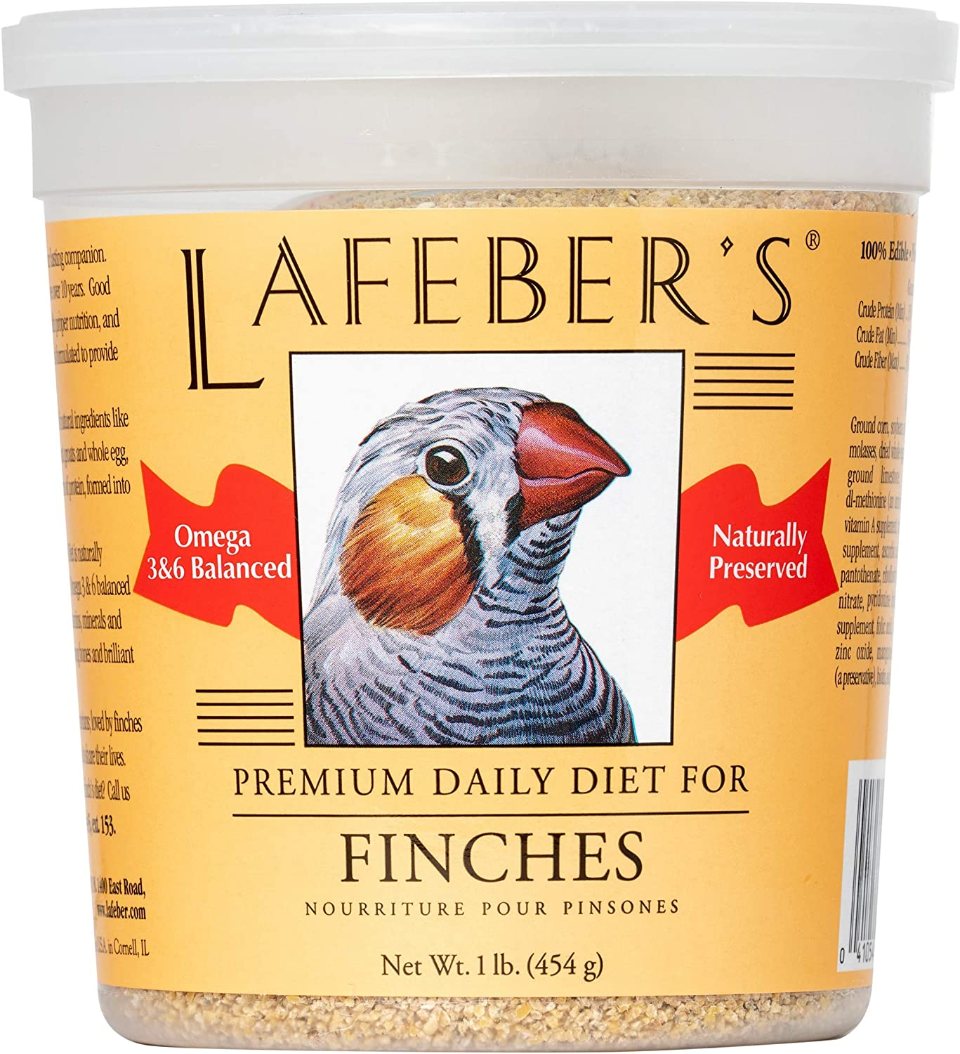 LAFEBER'S Premium Daily Diet or Gourmet Fruit Pellets Pet Bird Food, Made with Non-GMO and Human-Grade Ingredients, for Finches