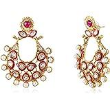 Ava Traditional Drop Earrings for Women (Pink) (E-VS-1607)