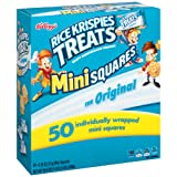 Amazon Price History for:Kellogg's Rice Krispies Treats, Original Mini Squares Snack Bars, 0.39 Ounce Package (Pack of 50)