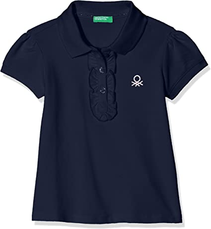 United Colors of Benetton H/S Shirt, Polo para Niñas, Azul (Dark ...