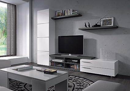 Mueble de salón comedor moderno, medidas: 180 X 240 X 41 cm: Amazon ...