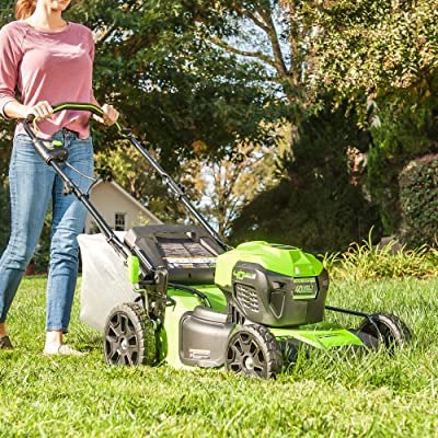 Greenworks 21-Inch 40V Brushless Push Mower, 6AH Battery and Charger Included, M-210