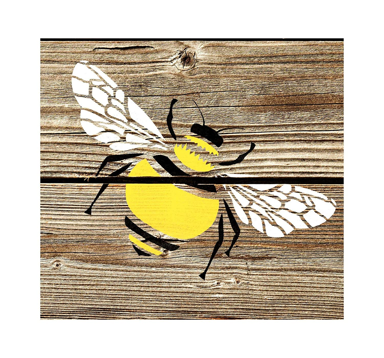 Bumble Bee Furniture Floor Wall Stencil for Painting S Dizzy Duck Designs