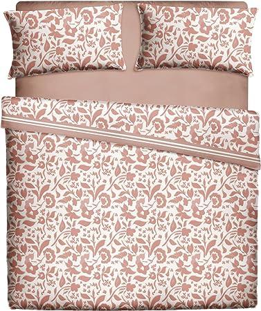 Casa Lieri - Juego de sábanas de 150, Algodón, 50% Poliéster, Coral. Cama 150 (Todas las medidas): Amazon.es: Hogar
