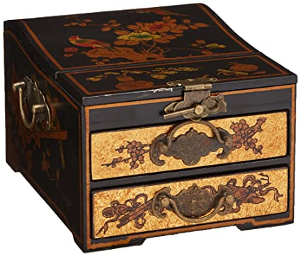 Amazoncom Oriental Furniture Small Jewelry Box with Mirror Home