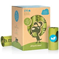 Earth Rated 270-Count Dog Waste Bags, Biodegradable Unscented Pooh Bags, 18 Refill Rolls