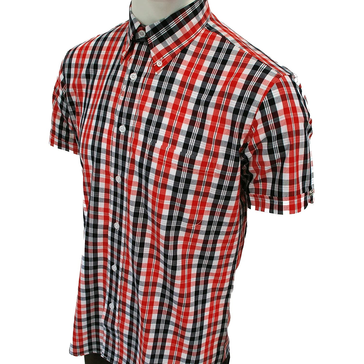 Warrior UK Men´s Short Sleeve Retro Button-Down Shirt Ferdy Skin ...