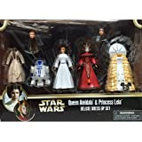 Disney Star Wars Queen Amidala and Princess Leia Figures Deluxe Dress Up Set With R2-D2 - Disney Parks Exclusive