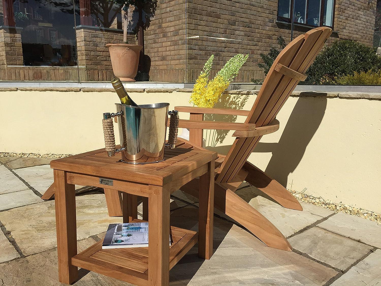 Garden chairs gt ascot teak garden companion seat bench garden tete - Solid Teak Wood Adirondack Relaxing Garden Chair Amazon Co Uk Garden Outdoors