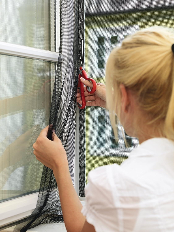 110 cm x 130 cm tesa Insect Stop STANDARD Fliegengitter f/ür Fenster Fliegen Netz anthrazit M/ückenschutz ohne Bohren Insektenschutz zuschneidbar