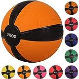 Medizinball Medizin Gewichtsball von POWRX 1 - 10 kg | versch. Farben