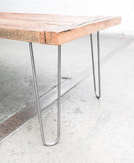 16 Hairpin Legs Raw Steel Industrial Strength Mid Century Modern