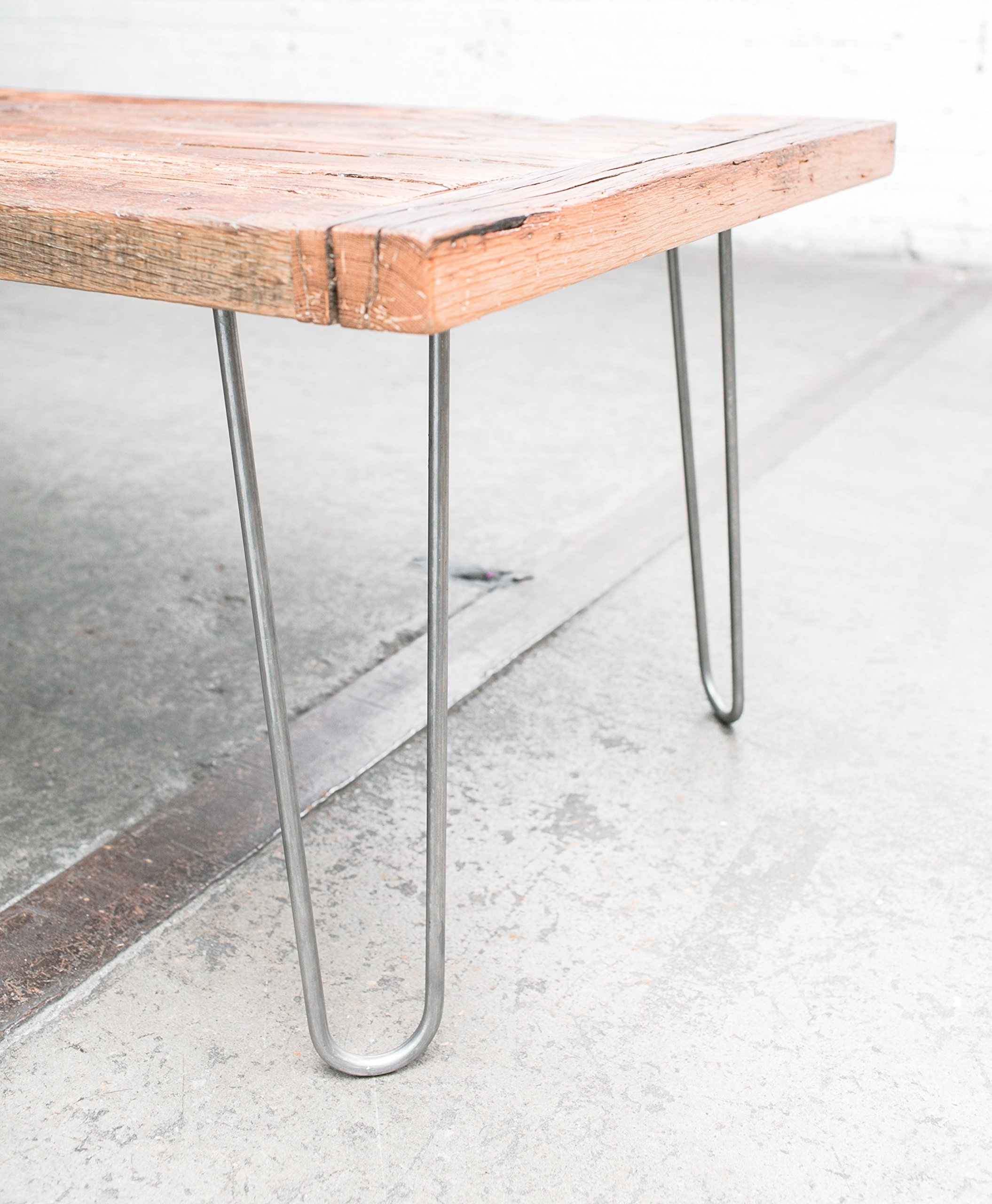 16'' Hairpin Legs (Raw Steel) ▫ Industrial Strength ▫ Mid Century Modern ▫ Set of 4 Table Legs
