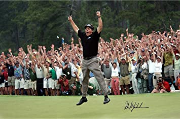 Phil Mickelson 2004 Masters Jump 8x10 Photo