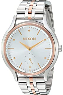 Nixon Womens Sala Quartz Stainless Steel Casual Watch, Color:Silver-Toned