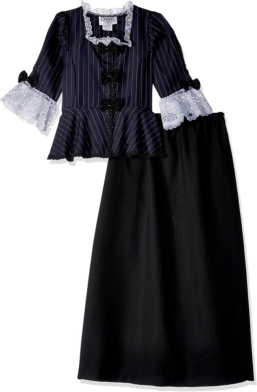 Charades Child's Colonial Girl Costume Dress, Small