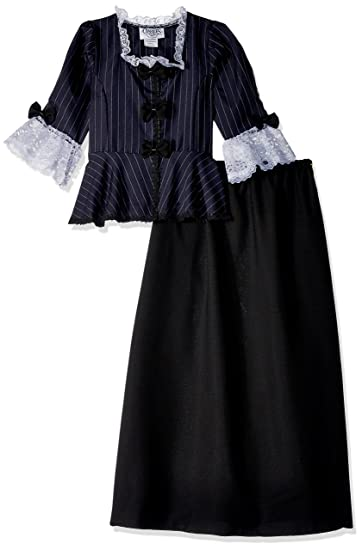 Amazoncom Charades Childs Colonial Girl Costume Dress Large