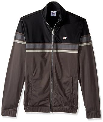 e380f574 Champion LIFE Men's Full Zip Track Jacket (Limited Edition), Black/Granite,