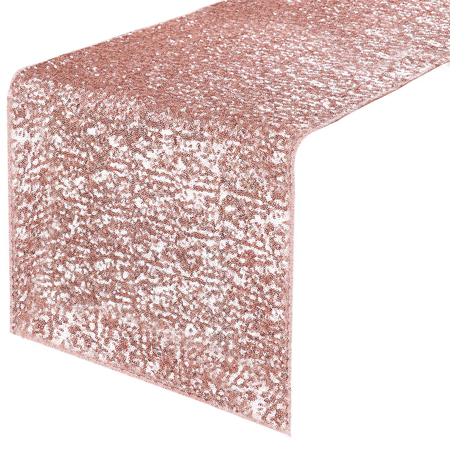 """PONY DANCE Table Runner Sequins - Sparkling Glitter Decorative Luxurious Table Runner for Event Weddings/Birthday/Christmas and Holidays, 14"""" x 108"""", Pink, 1 PC"""