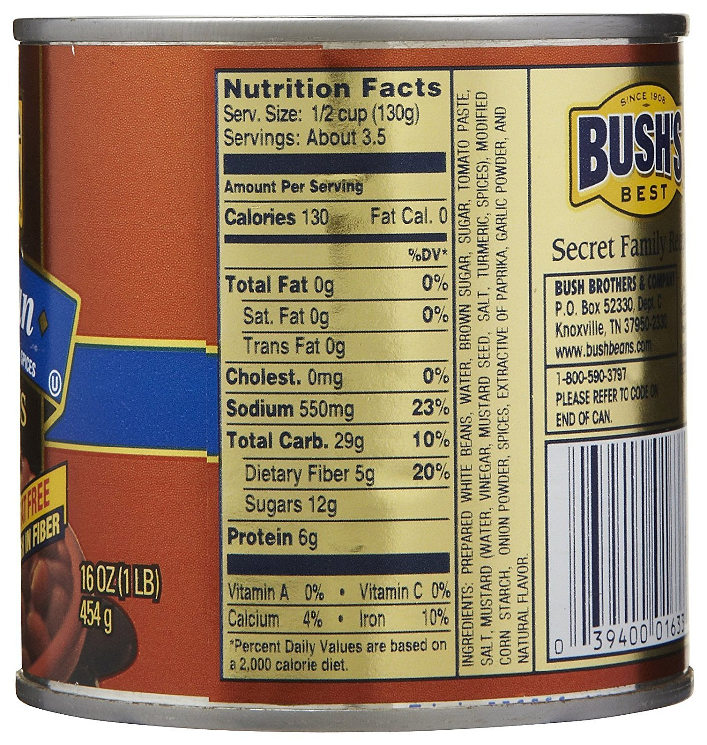 Amazon Com Bush S Best Vegetarian Fat Free Baked Beans 3 Pack Grocery Gourmet Food
