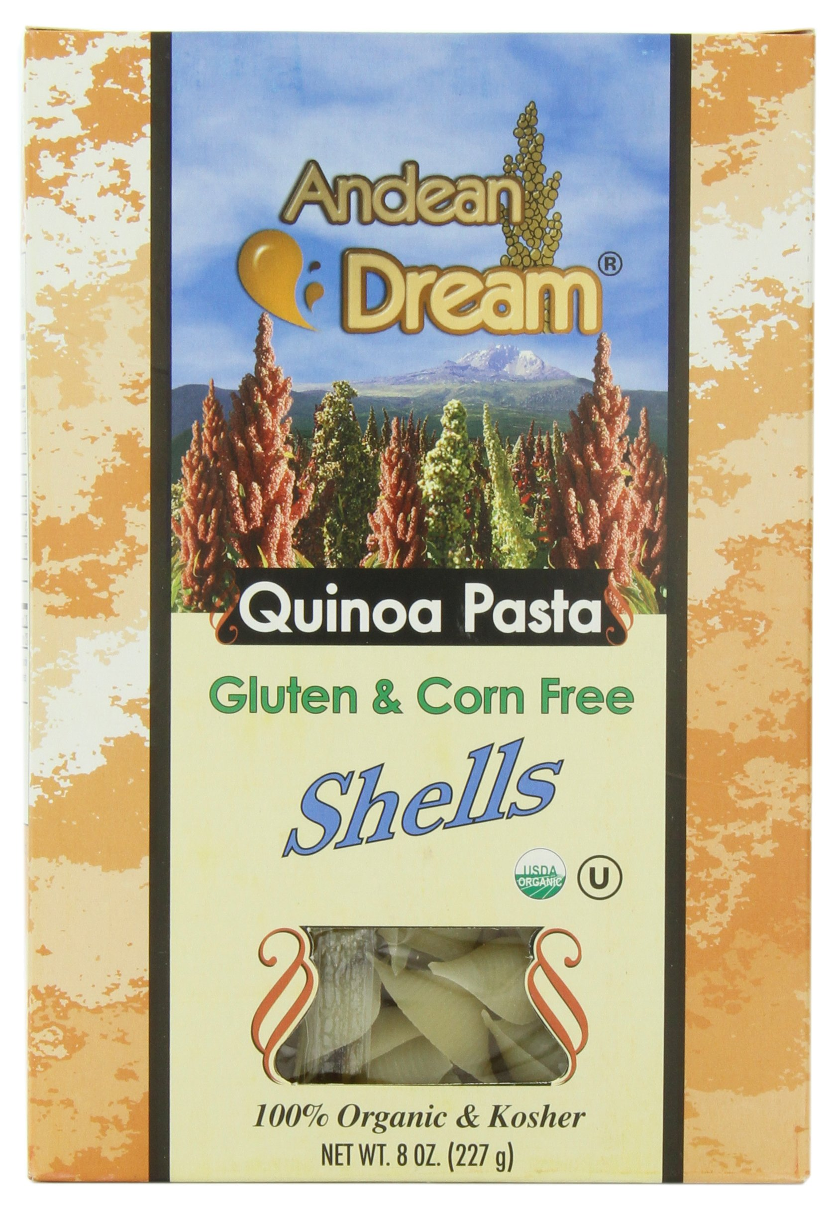 Andean Dream Organic Quinoa Pasta, Shells, 8 Ounce