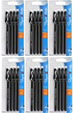 Papermate Erasermate Medium Point (1.0 mm) Black Erasable Ballpoint Pens, 4 count, (Pack of 6)