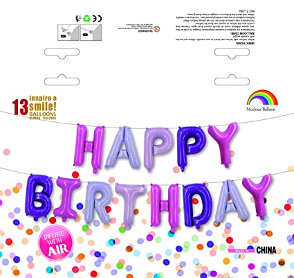 Amazon Mcolour Balloon Birthday Party 16 Inch Cute HAPPY