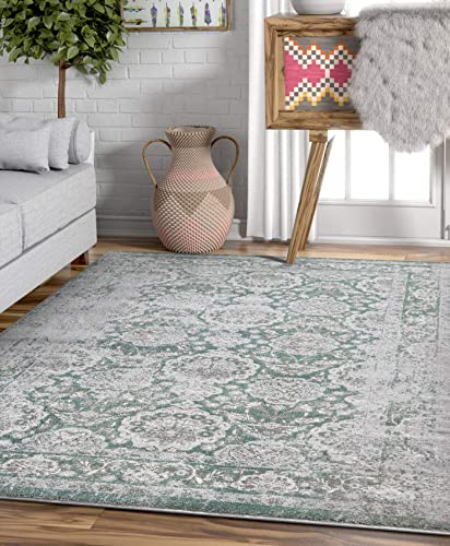 Modern Weave Modern Distressed Traditional Vintage Persian Floral 5×7 5 3 x 7 3 Area Rug