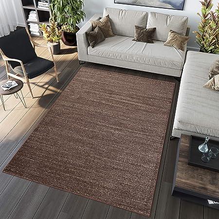 Tapiso Tapis De Salon Moderne Collection Sari – Couleur Marron Chocolat  Motif Plat Sable - Facile D\'Entretien 80 x 150 cm