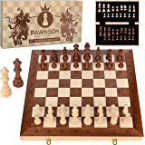Wooden Chess Set for Kids and Adults – 17 in Staunton Chess Set - Large Folding Chess Board Game Sets - Storage for…