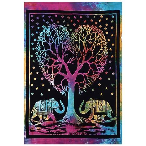 Póster de Hippie Hippy Mandala, diseño de corazón de árbol, tamaño 30 x 40