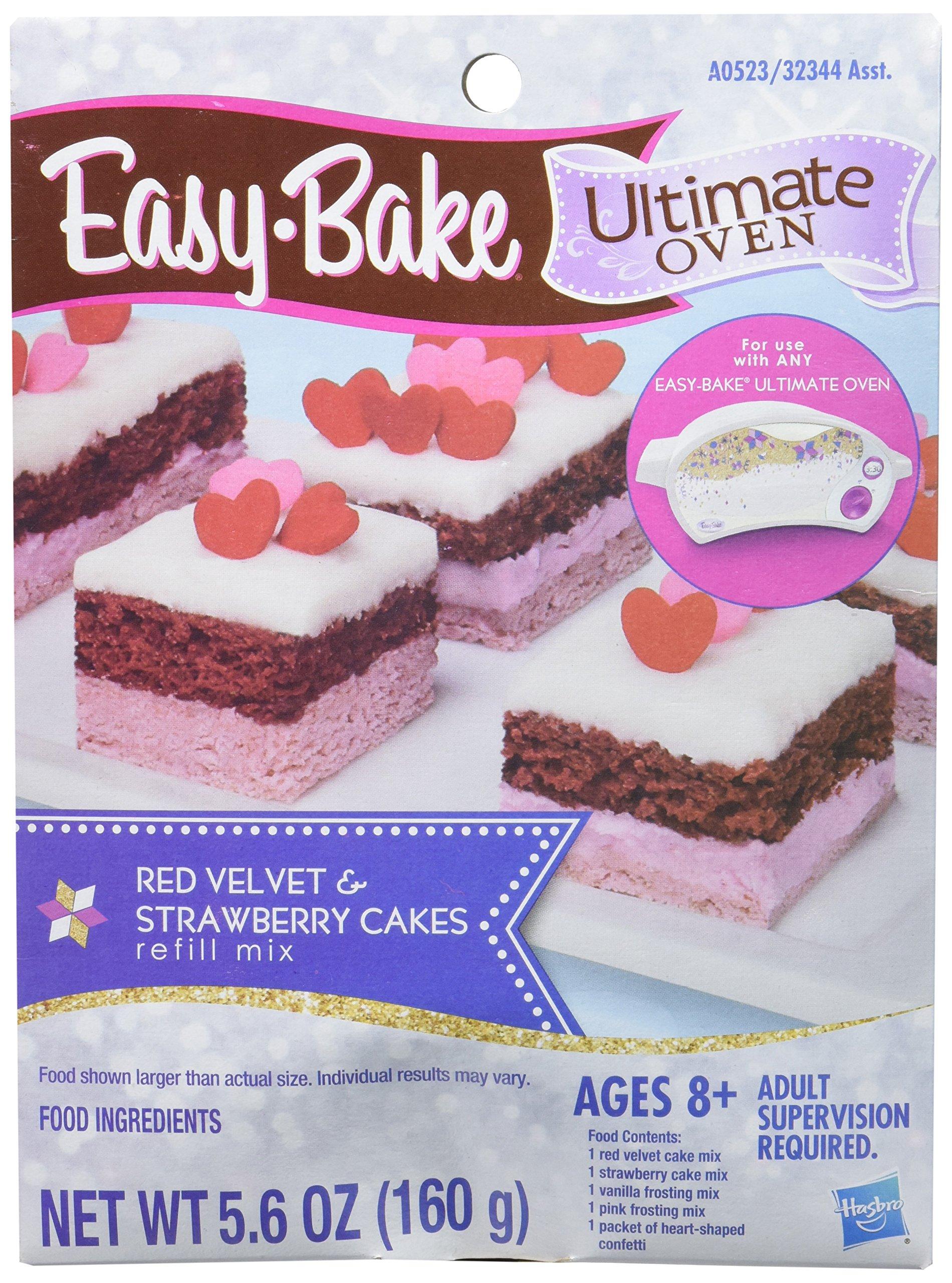 Easy-Bake Ultimate Oven Red Velvet and Strawberry Cakes Refill Pack by Easy Bake