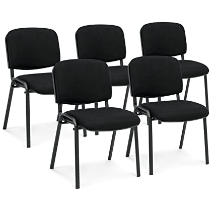 Best Choice Products Set Of 5 Heavy Duty Ergonomic Conference Room Office  Chairs (Black