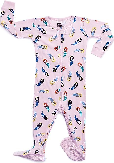 6 Months-5 Toddler Leveret Baby Girls Footed Pajamas Sleeper 100/% Cotton Kids /& Toddler Pjs Sleepwear