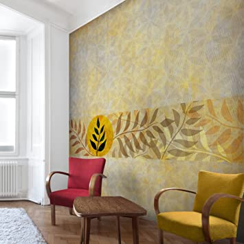 Non-woven Wallpaper - Asia Patterns - Mural Square wallpaper wall ...