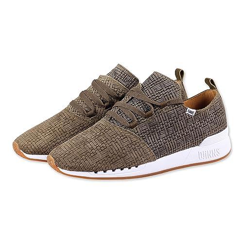 DJINNS Moc Lau Overlap Embo Leder Herren Sneaker Niedrig Niedrig Niedrig Top Schuhe ... 679f8f