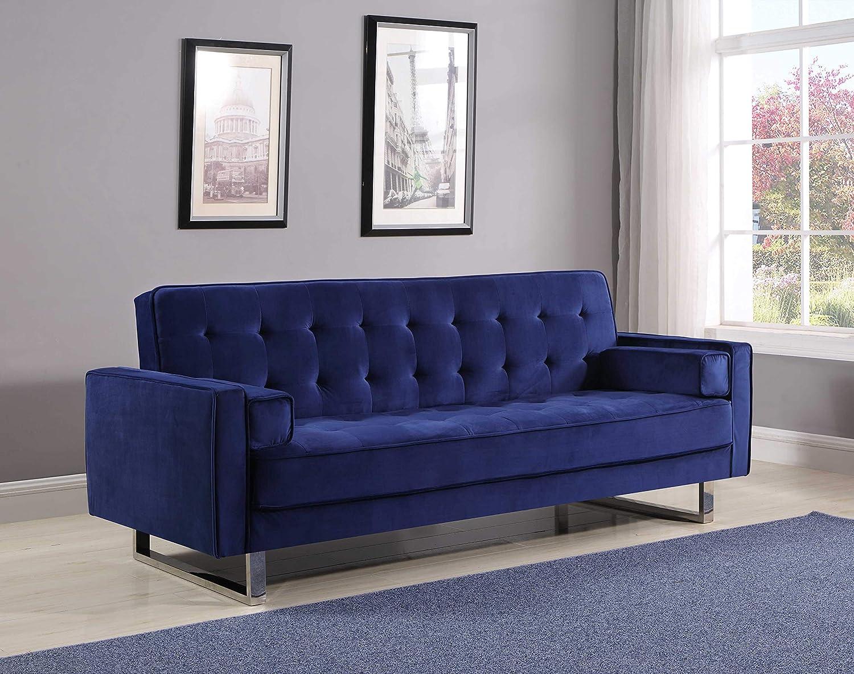 Amazon.com: Best Quality Furniture S594 Velvet Sofa Bed ...