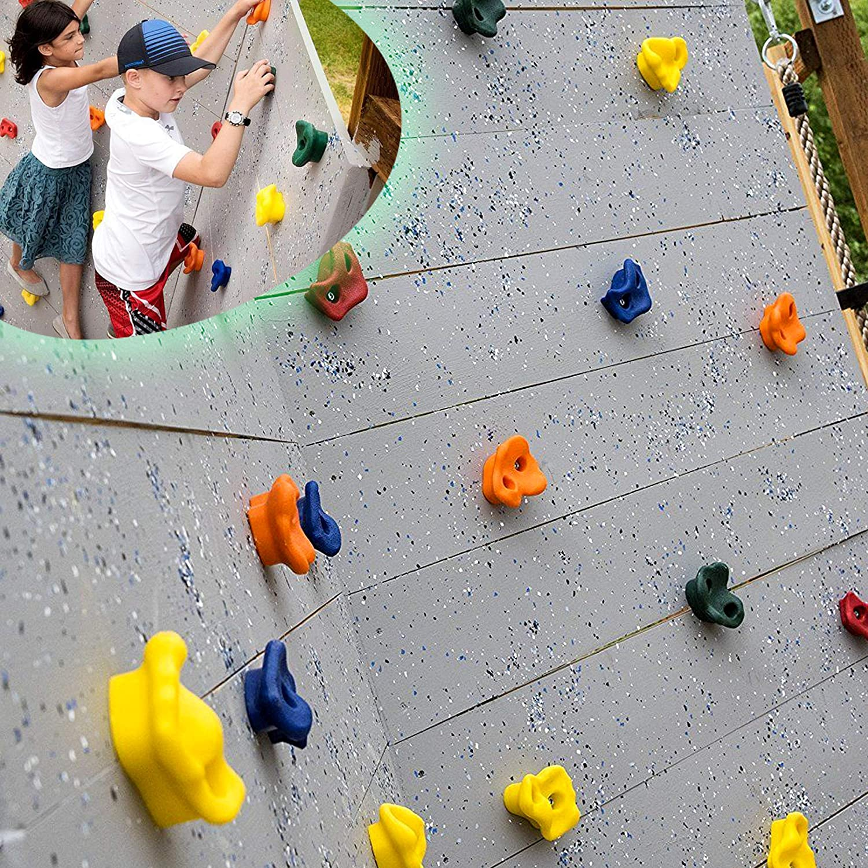 CHAIRLIN Presas de Escalada para niños Puños de trepa para rocódromos Rocódromos, coloreados para una Superficie de Escalada, cargables hasta 200 kg ...