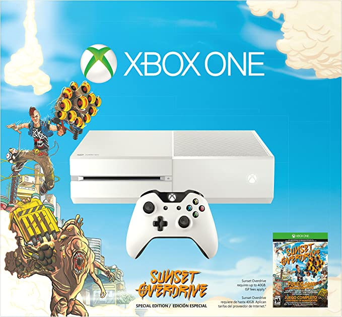 Xbox One White Console with Sunset Overdrive by Microsoft: Amazon ...