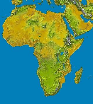 Nasapete Afrika 3d Relief Kontinent Landkarte Weltkarte