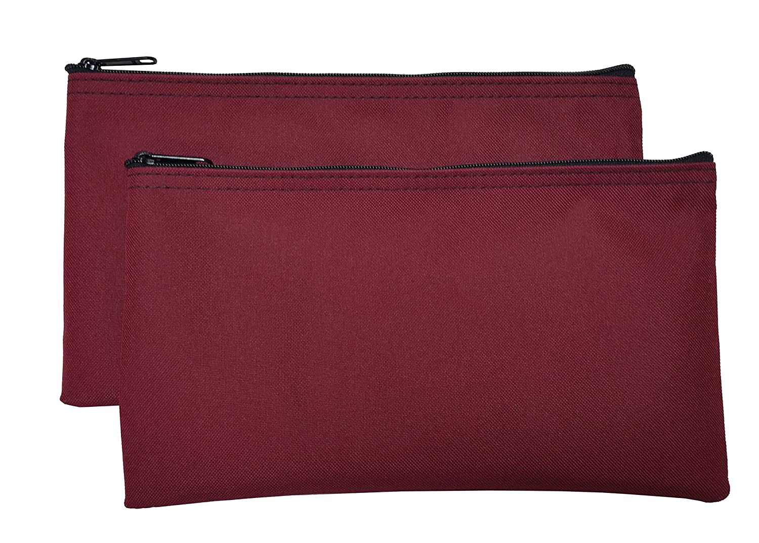 Zipper Bags Poly Cloth Value Package of 2 Bags (Burgundy) Cardinal Bag Supplies 76161003