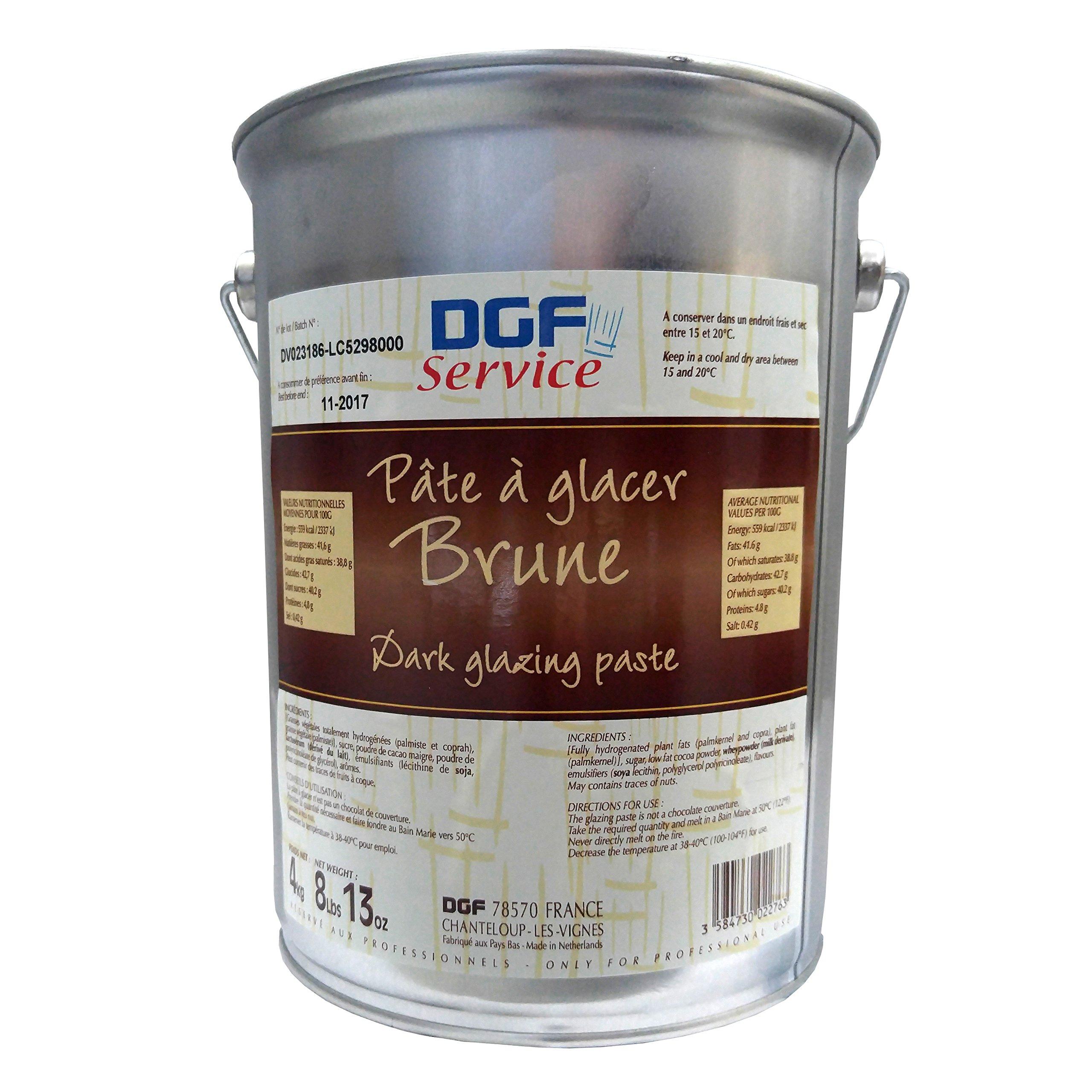 Pate A Glacer Brune, Dark Chocolate Glazing Paste - 8.8 Lb Pail