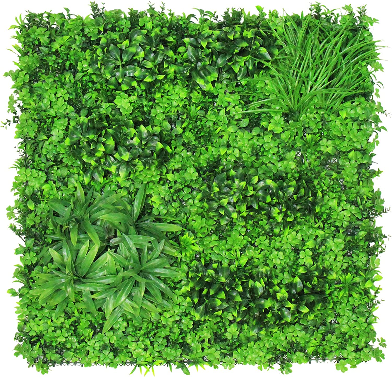 ULAND Artificial Greenery Hedegs Wall, Faux Ivy Plant Backdrop, Verticial Garden Privacy Fence Screen, 40