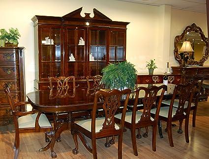 Etonnant Classic Mahogany 10 Piece Dining Room Set