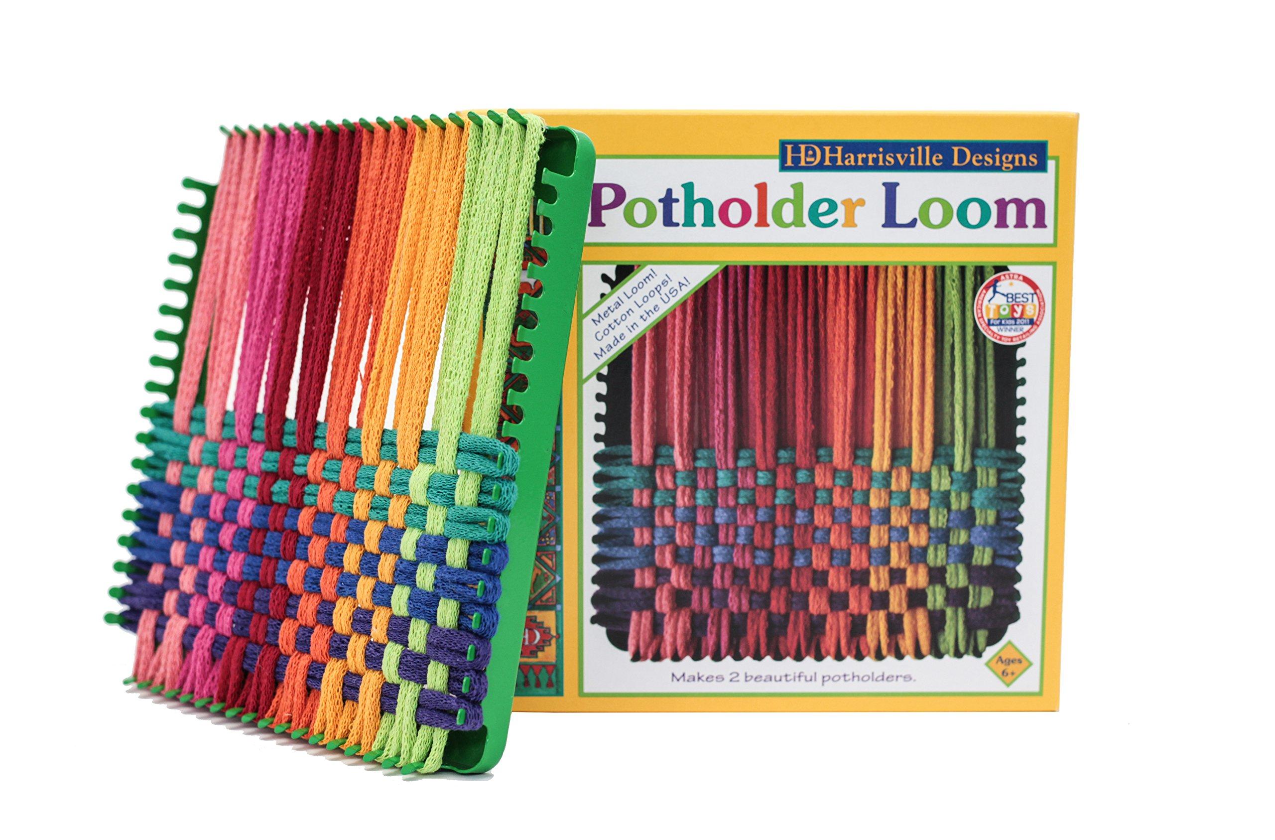 Harrisville Designs Traditional 7'' Potholder Loom Kit, Makes 2 Potholders